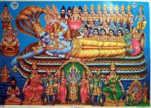 5.God Vishnu is the preserver and protector of creation